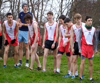 St Aidan's team at U-19 race start.