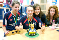 Special cake baked by St Mary's girls.
