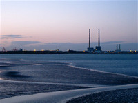 Ringsend from the Booterstown DART stairs - 15 Sept 2010 8pm.