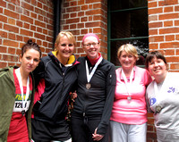 Visually impaired winner Hilary Casey with Donna McGrath, Stef Barnewell, Mary Browne and Manuelle R